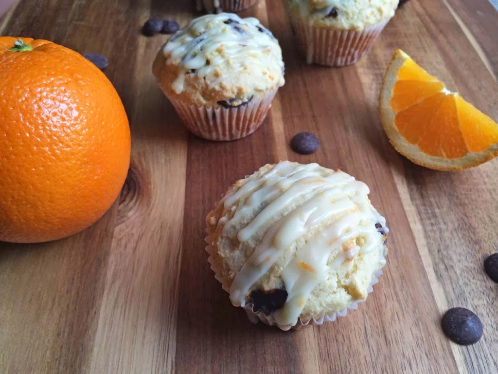 Orange Ricotta Chocolate Chip Muffins