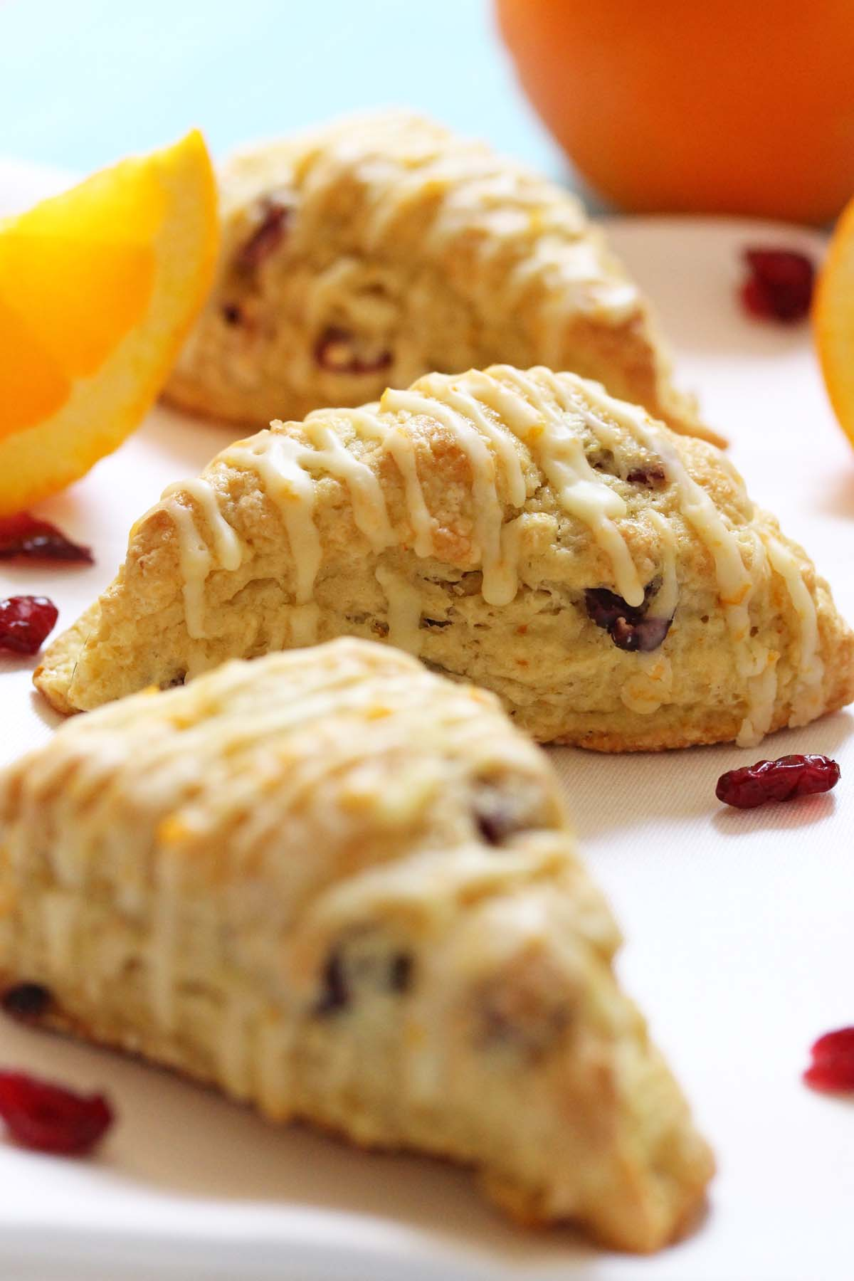 Orange Cranberry Scones Recipe — Dishmaps