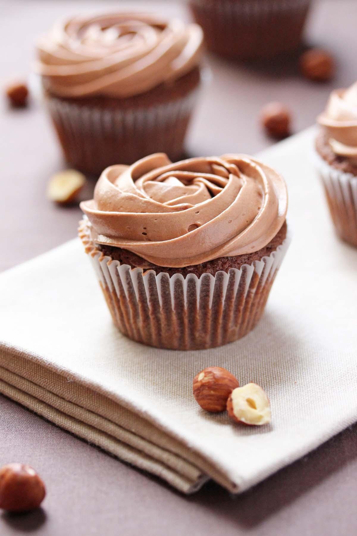 Nutella Cupcakes Recipe — Dishmaps