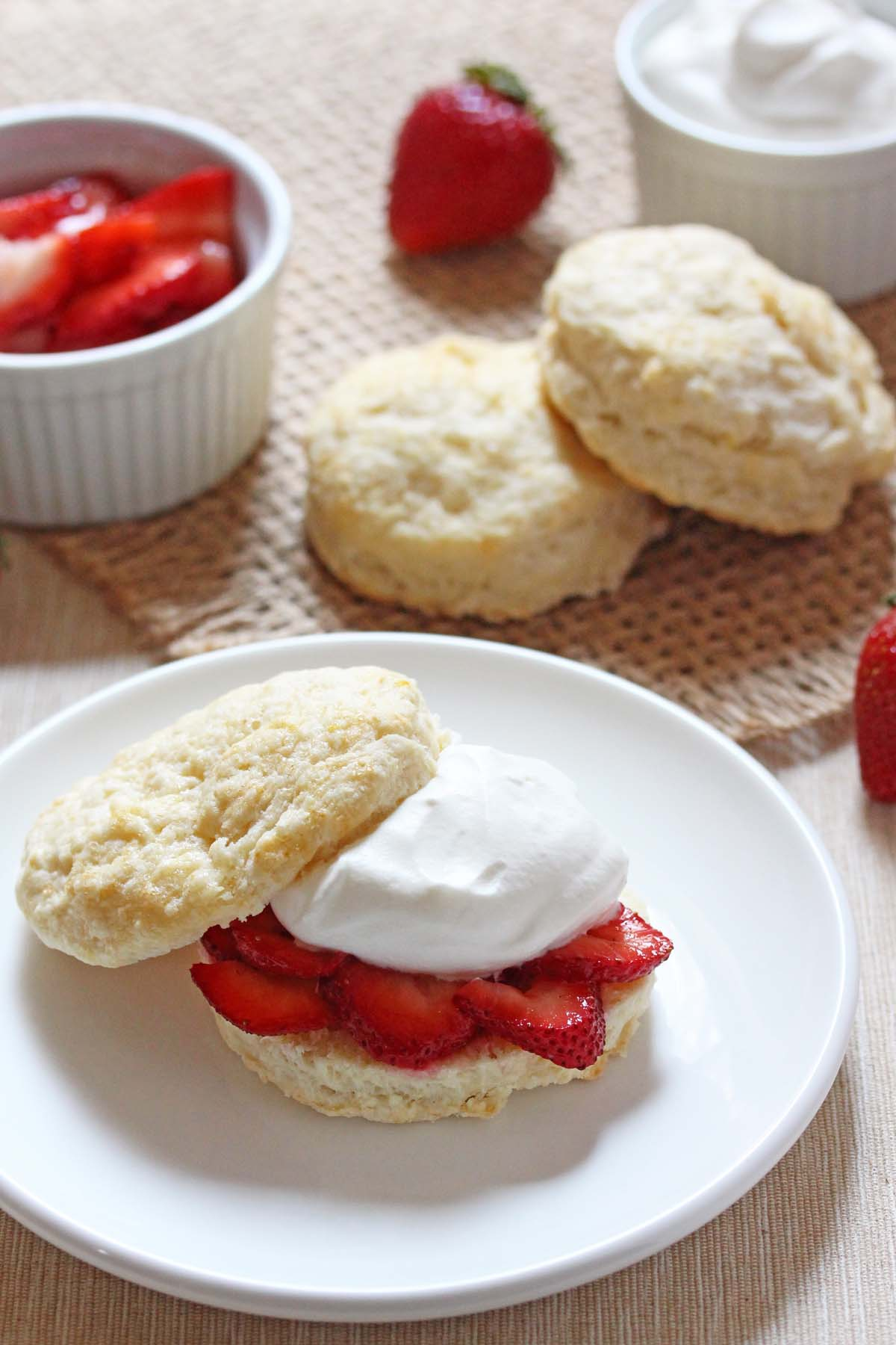 Strawberry Shortcakes from Ashley Marie's Kitchen